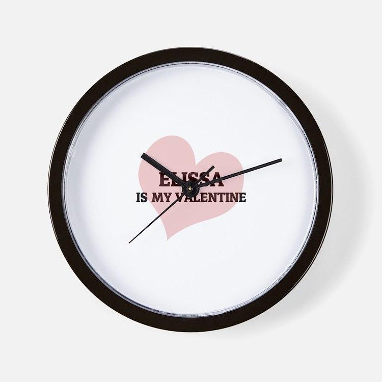 Elissa Is My Valentine Wall Clock