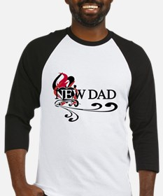 Heart New Dad Baseball Jersey