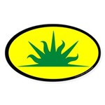 West Kingdom Populace Sticker (Oval 10 pk)