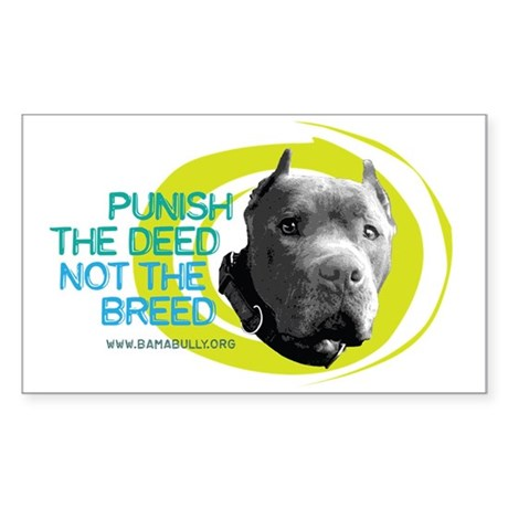 Punish the Deed Rectangle Sticker