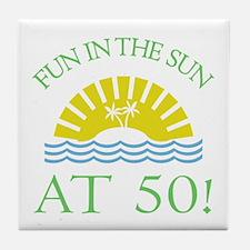 Fun 50th Tile Coaster