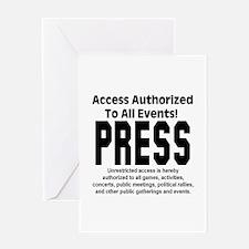 PRESS Greeting Card