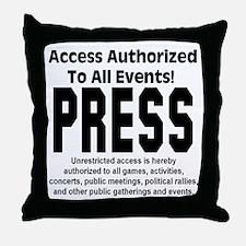 PRESS Throw Pillow