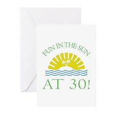 Fun 30th Greeting Cards (Pk of 10)