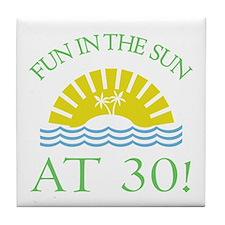 Fun 30th Tile Coaster