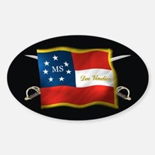 Mississippi Deo Vindice Sticker (Oval)
