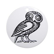 Cute Greek Ornament (Round)