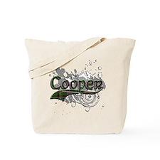 Cooper Tartan Grunge Tote Bag