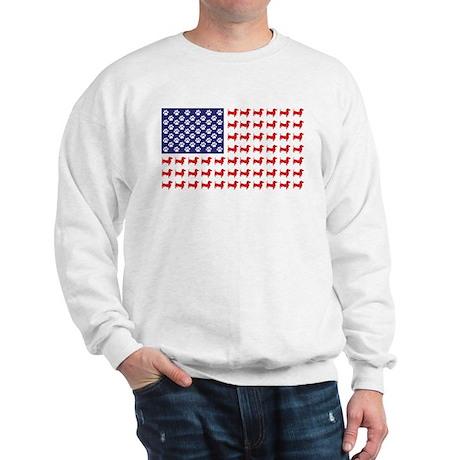 Dachshund Patriotic Flag Sweatshirt