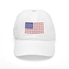 Dachshund Patriotic Flag Baseball Cap