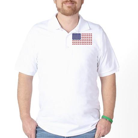 Dachshund Patriotic Flag Golf Shirt