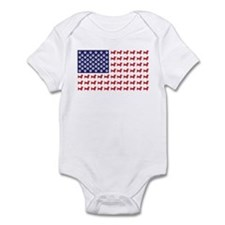 Dachshund Patriotic Flag Infant Bodysuit