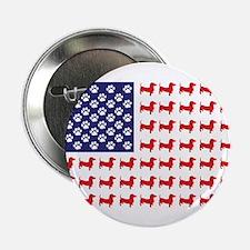 "Dachshund Patriotic Flag 2.25"" Button"