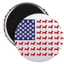 "Dachshund Patriotic Flag 2.25"" Magnet (10 pack)"