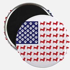 "Dachshund Patriotic Flag 2.25"" Magnet (100 pack)"