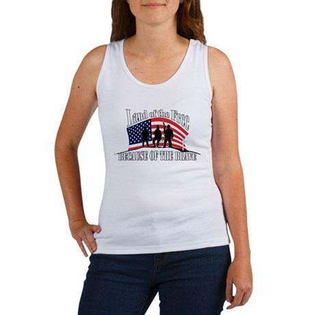 Land of the Free Because of t Women's Tank Top