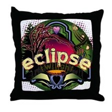 Eclipse Full Circle by Twibaby Throw Pillow