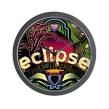 Eclipse Full Circle by Twibaby Wall Clock