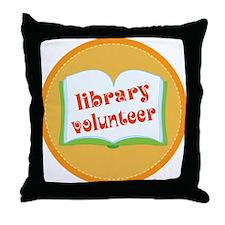 Book Library Volunteer Throw Pillow