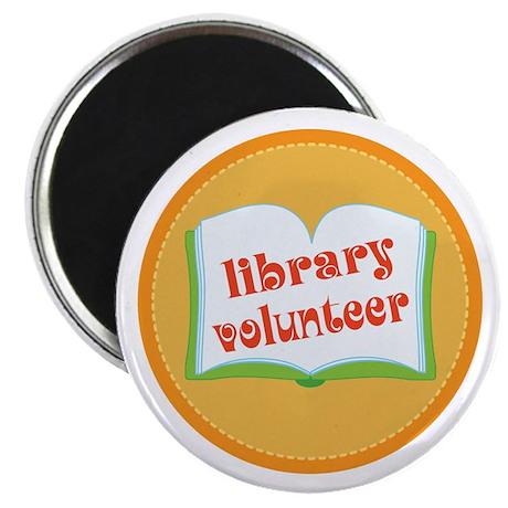 """Book Library Volunteer 2.25"""" Magnet (10 pack)"""