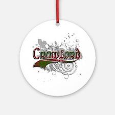 Crawford Tartan Grunge Ornament (Round)