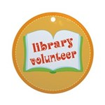 Book Library Volunteer Ornament (Round)