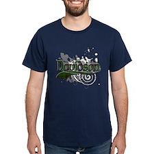 Davidson Tartan Grunge T-Shirt
