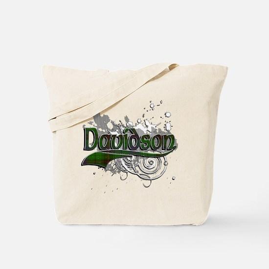 Davidson Tartan Grunge Tote Bag