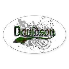 Davidson Tartan Grunge Decal