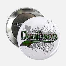 "Davidson Tartan Grunge 2.25"" Button"