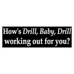 BP and Drill, Baby, Drill Bumper Bumper Sticker