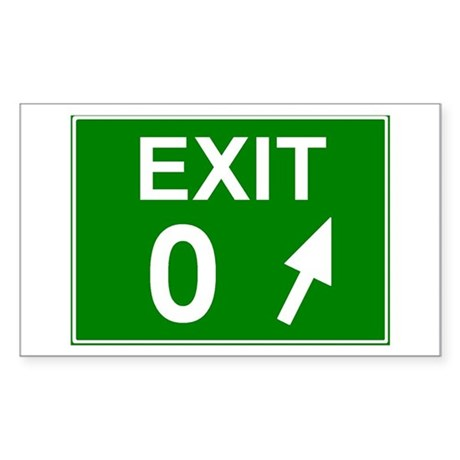 Exit 0 Rectangle Sticker