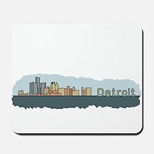 Detroit Skyline - Color Mousepad