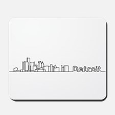 Detroit Skyline - Solid Mousepad