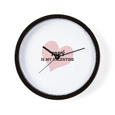 My Valentine: Trey Wall Clock