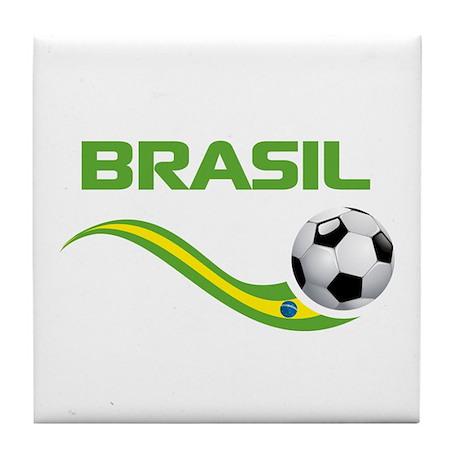 Soccer BRASIL Tile Coaster