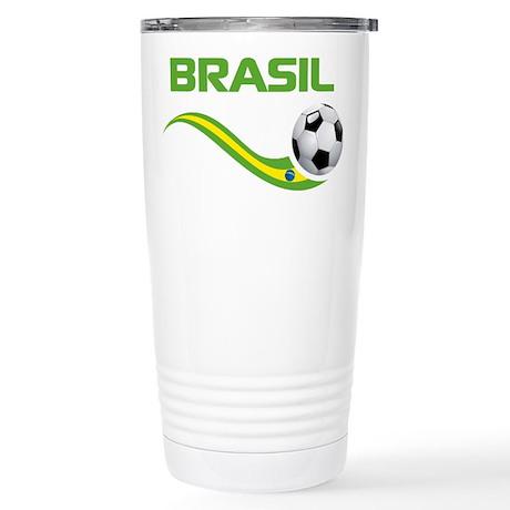 Soccer BRASIL Stainless Steel Travel Mug