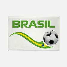 Soccer BRASIL Rectangle Magnet
