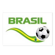 Soccer BRASIL Postcards (Package of 8)