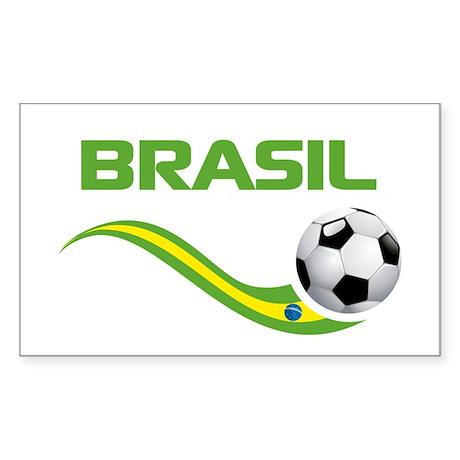 Soccer BRASIL Sticker (Rectangle)