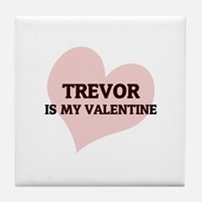 Trevor Is My Valentine Tile Coaster