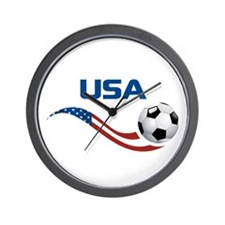 Soccer USA Wall Clock