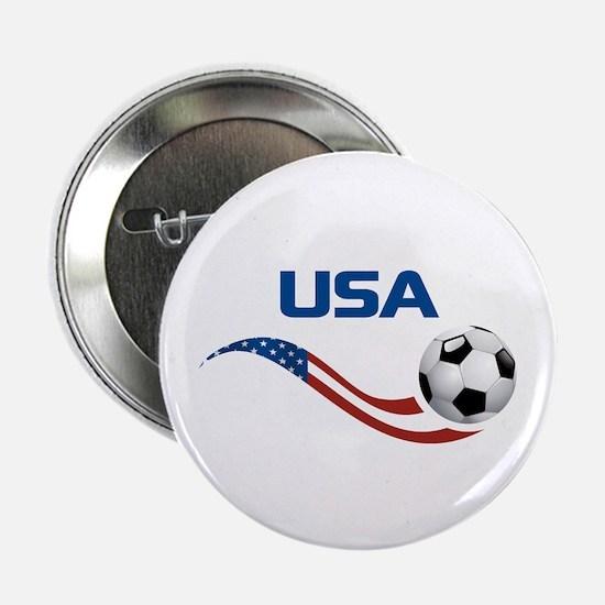 """Soccer USA 2.25"""" Button"""