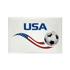 Soccer USA Rectangle Magnet