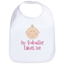My Godmother Loves Me Bib