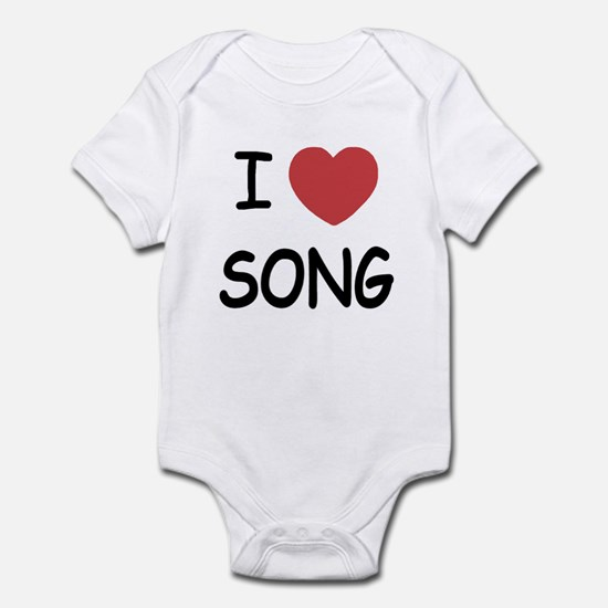 I heart song Infant Bodysuit