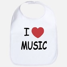 I heart music Bib