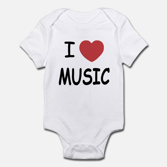 I heart music Infant Bodysuit