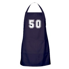 The Number 50 Apron (dark)