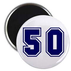 The Number 50 Magnet